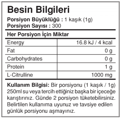 Bigjoy Citrulline 300 gr Powder Sitrulin