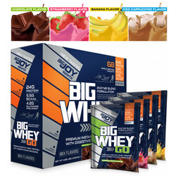 BIGJOY - Bigjoy Sports Bigwheygo Protein 68 Servis Tekli Paket Mix Aroma