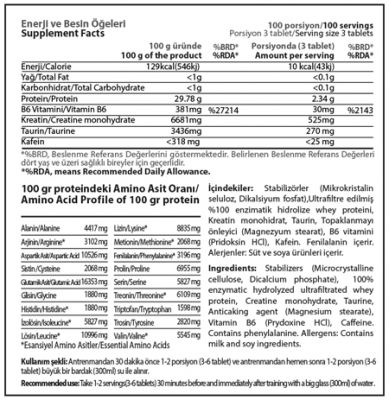 Hardline Amino Full 300 Tablet Aminoasit