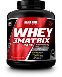HARDLINE - Hardline WHEY 3Matrix 2300 gr Protein Base Sade Aromasız