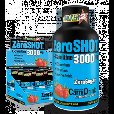 Stacker2 Zero Shot 3000 mg x12 L-Carnitine Çilek