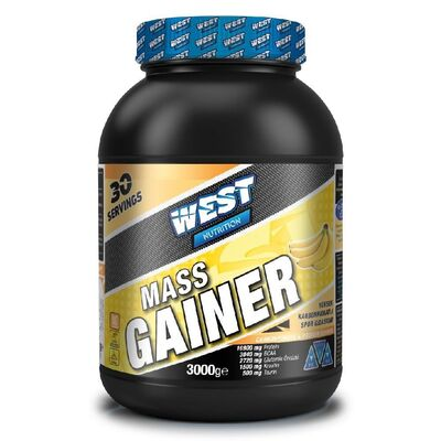 West Mass Gainer Karbonhidrat Tozu 3000 gr 30 Servis