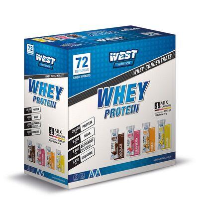 West Whey Protein Tozu 2592 gr 72 Saşe 4 Aroma